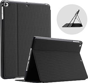 ProCase iPad 9.7 (2018 & 2017) / iPad Air 2 / iPad Air Case, Slim Stand Protective Folio Case Smart Cover for Apple iPad 9.7 Inch 5th/6th Generation, Also Fit iPad Air 2 / iPad Air -Black