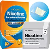 Aroamas Nicotine Patches to Quit Smoking, Nicotine Transdermal Patches Step 3, Cigarette Patches to Stop Smoking, 7 mg…