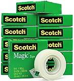 """Scotch 810 Roll Magic Tape, 3/4"""" x 800"""" (22.2 YD) - 12 Rolls"""