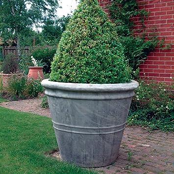 Amazon UK & Large Garden Planter - Giant Stone Flower Plant Pot Vase ...