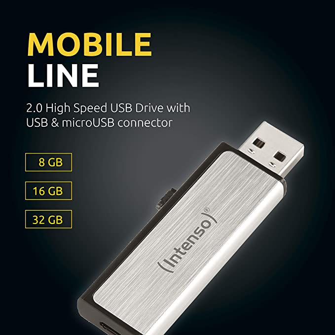 Intenso Mobile Line On The Go 8 Gb Usb Stick Usb2 0 Computer Zubehör