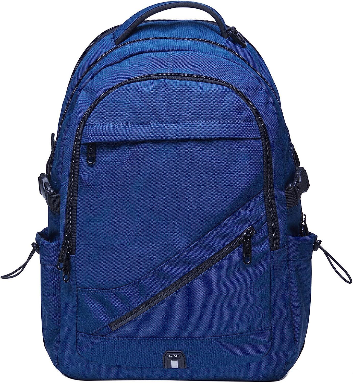 KAUKKO Vintage Canvas Backpack Travel Hiking Satchel Stylish Rucksack with Inner Compartment