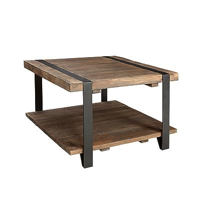 Alaterre AZAMSA1320 Stowe 27u0026quot; Reclaimed Wood Square Coffee Table, ...