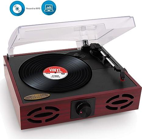 Pyle Home - Reproductor de discos de vinilo clásico Pyle ...
