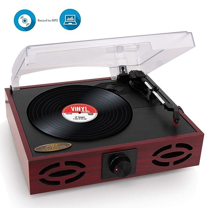 Amazon.com: Pyle Turntable, clásico estilo clásico estéreo ...
