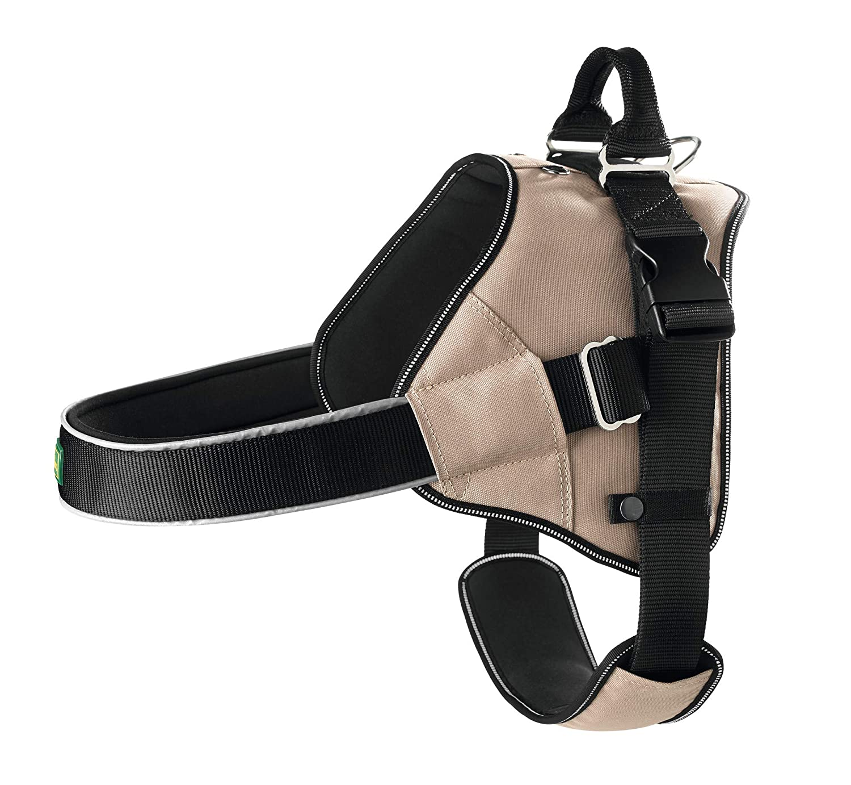 Tan XXL Tan XXL HUNTER Neopren Expert Nylon Harness, 84 x 120 cm, 38 mm, 2X-Large, Black Tan Brown