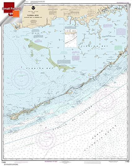 NOAA Chart 11452: Intracoastal Waterway Alligator Reef to Sombrero Key 21.00 x 26.34 (SMALL