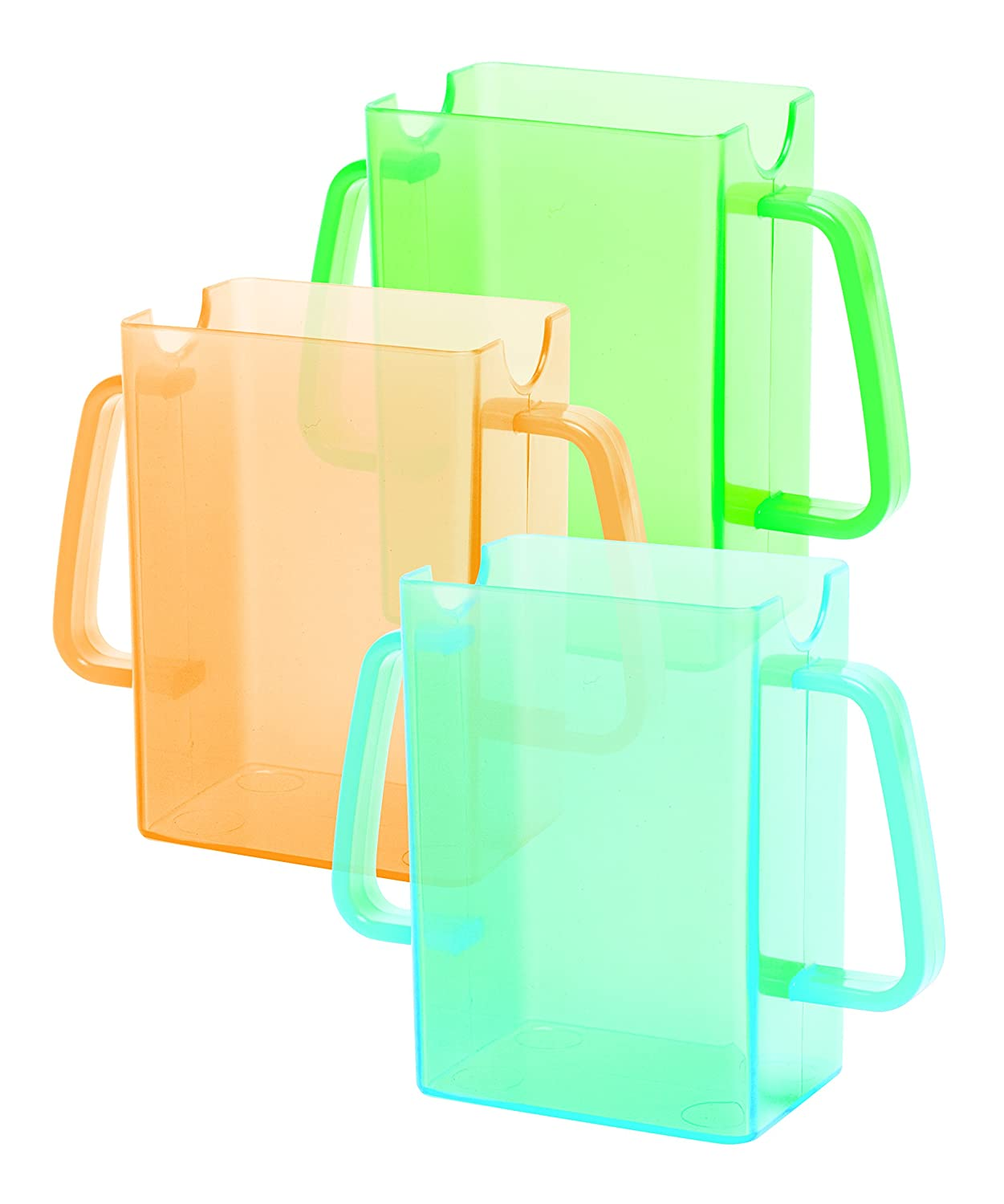 Colors May Vary Mommys Helper Juice Box Buddies Holder for Juice Bags and Boxes