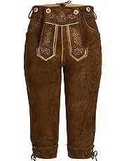 Gaudi-Leathers Damen Trachten Lederhose Kniebund mit Träger in verschiedenen Farben