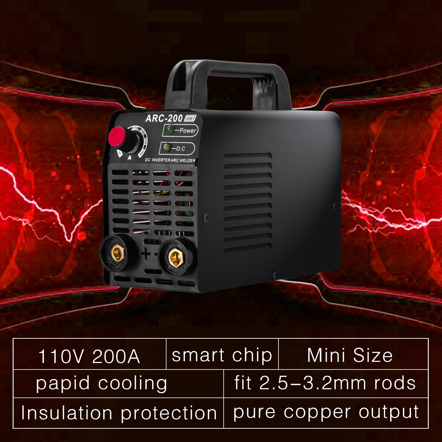 Arc Welder 110v 200amp Welding Machine Igbt Inverter Ac Dc Mini Circuit Of Arc200 View Electric Welders Free Accessories Tools High Frequency Household Smart For Novice