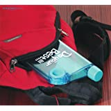 AECTM Flat Plastic A5 Do Your Best Notebook Water Bottle, 380 ml, Clear Style (Assorted Colours)