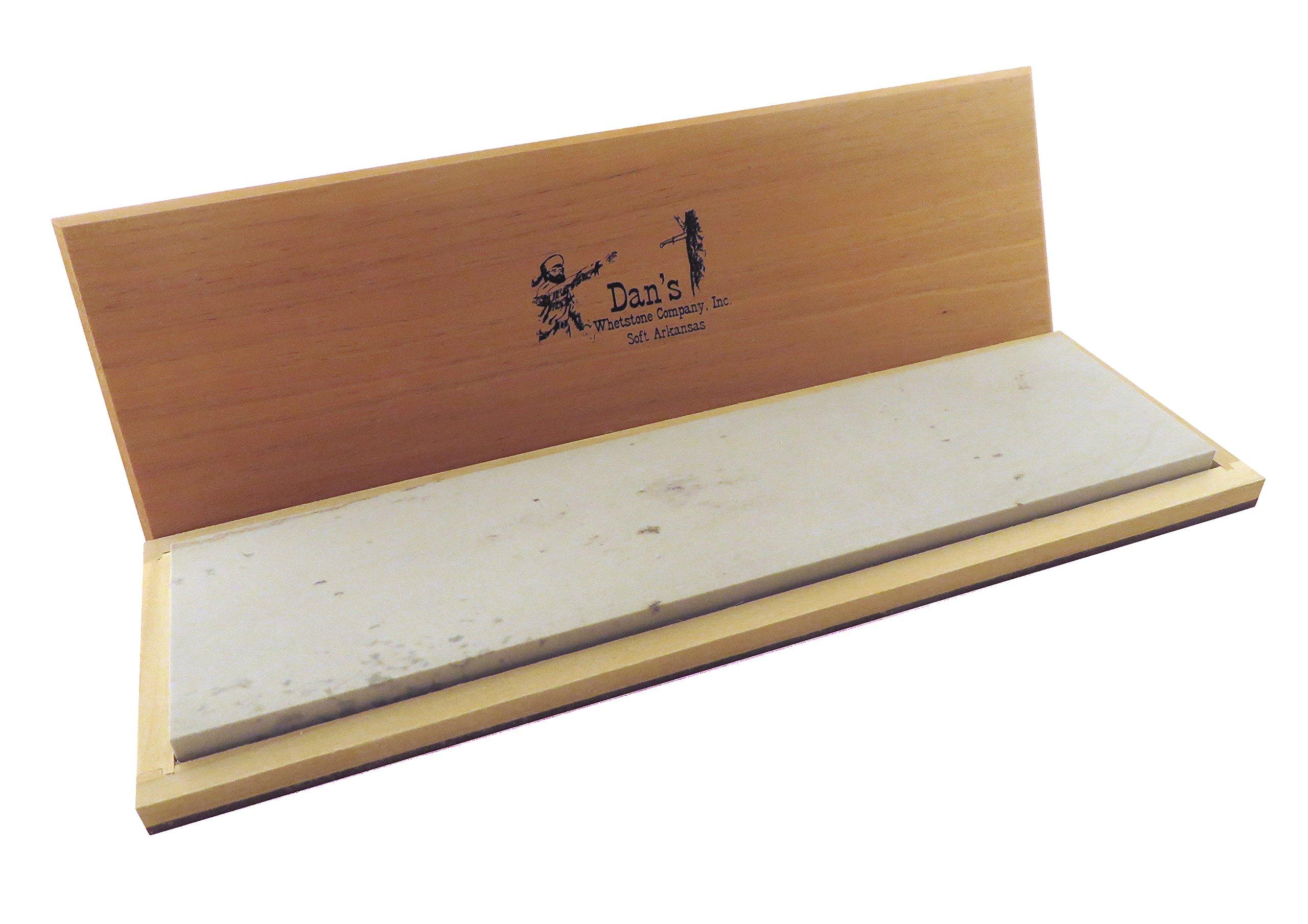 Super Large Genuine Arkansas Soft (Medium) Knife Sharpening Bench Stone Whetstone 12'' x 3'' x 1/2'' in Wood Box MAB-1232-C