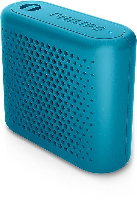 Philips BT55A - Mini Altavoz Bluetooth inalámbrico portatil, Compatible con Smartphones, iPhone, Android
