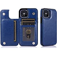 T Tersely Leather Wallet Card Case Cover for Apple iPhone 12/12 Pro 6.1 Inch, Leather Pouch Slim Ultra Thin Magnetic…