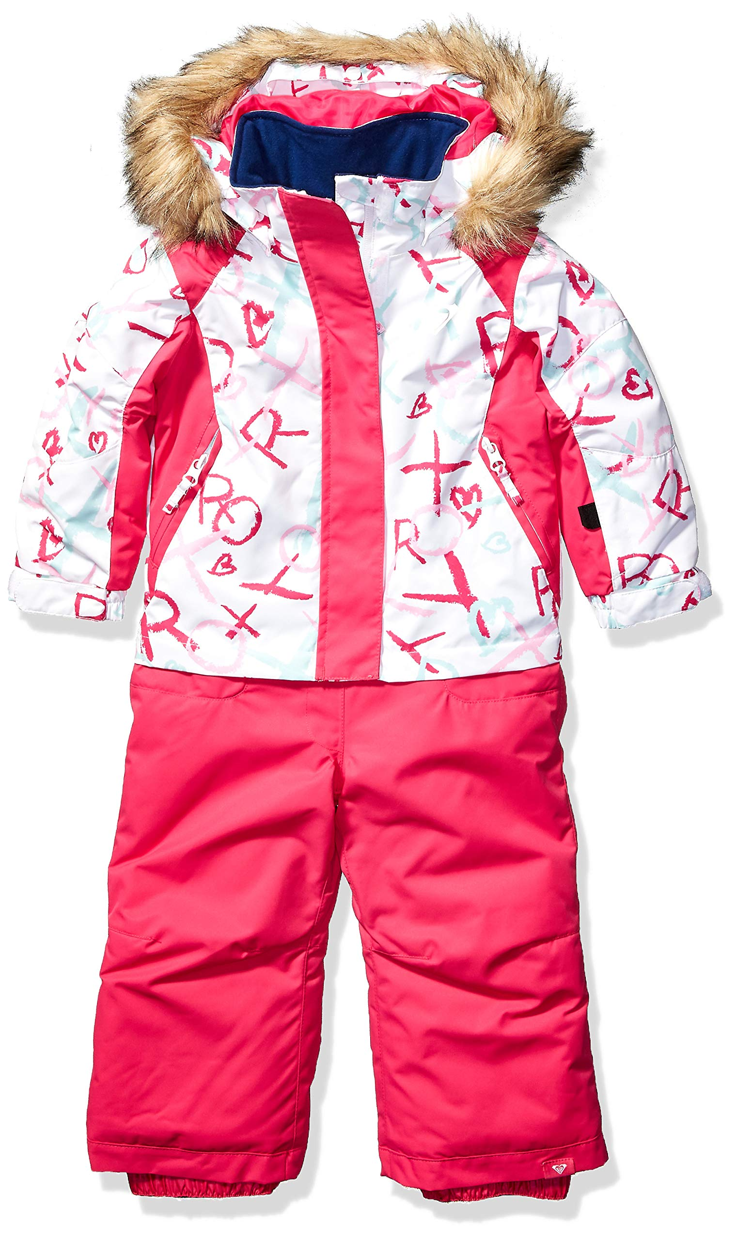 Roxy Snow Girls' Little Paradise Jumpsuit, Bright White School Day, 4/5 by Roxy