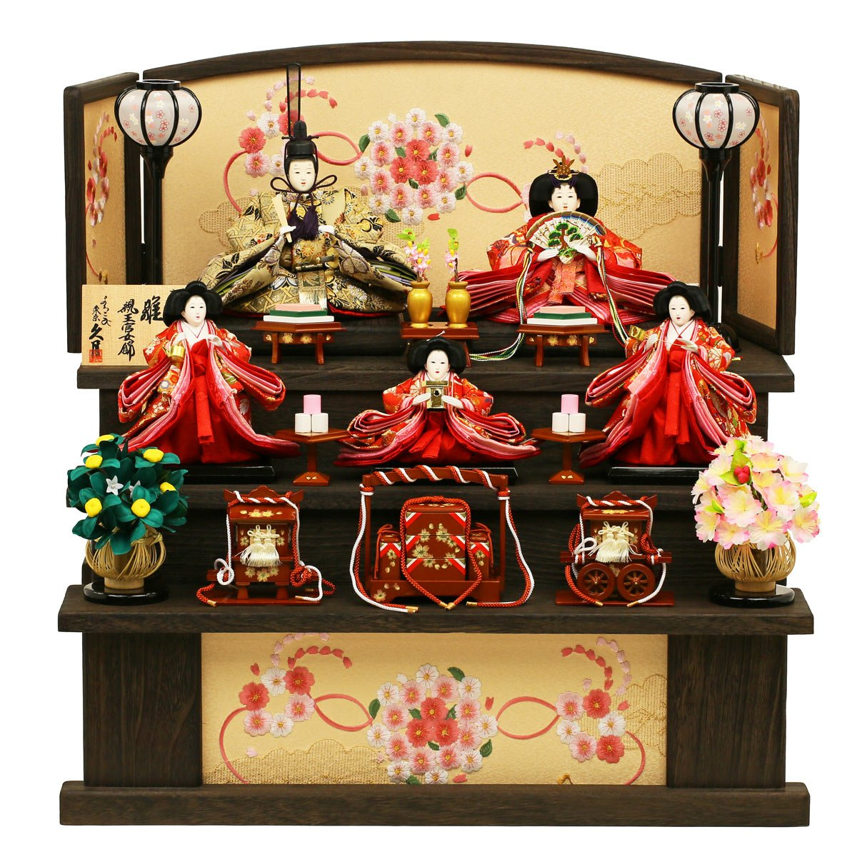 久月 雛人形 親王官女飾り 束帯十二単姿雛   B01ARBPLMI