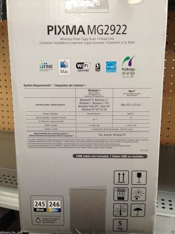 Blue Finish Canon PIXMA MG2922 Wireless All-in-One Inkjet Printer 4800 x 600 dpi