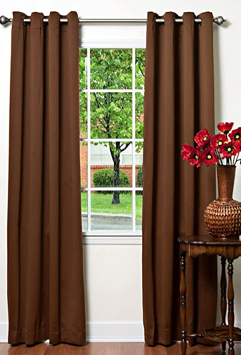 Wonderful Best Home Fashion Thermal Insulated Blackout Curtains   Antique Bronze  Grommet Top   Chocolate   52u0026quot