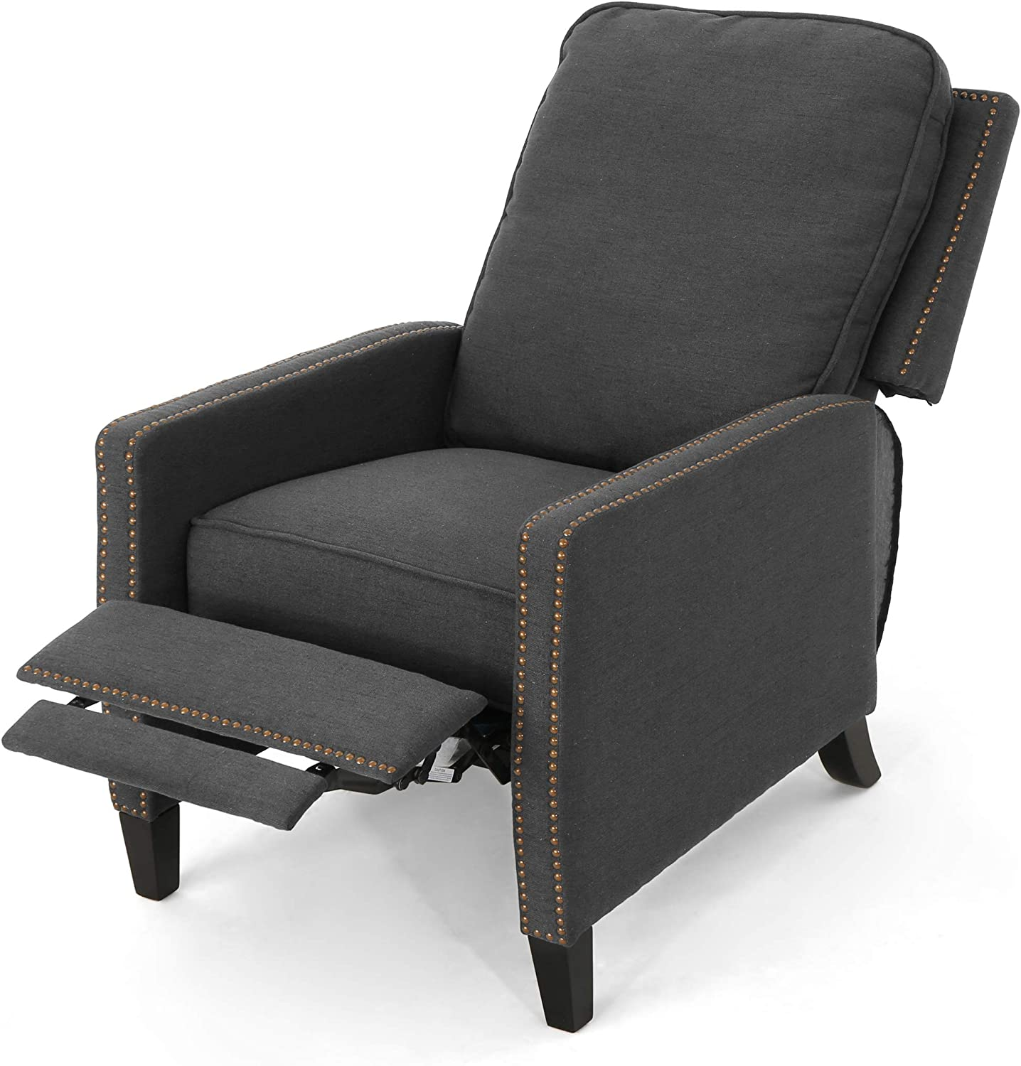 Christopher Knight Home Armstrong Recliner, Grey + Dark Brown