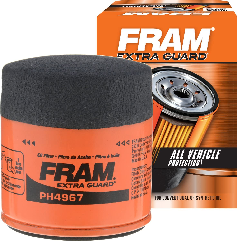 FRAM Extra Guard PH4967, 10K Mile Change Interval Spin-On Oil Filter: Automotive