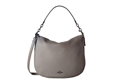 345a6e8a0c Coach Chelsea 32 Heather Grey Pebbled Leather Hobo Bag Grey Leather ...