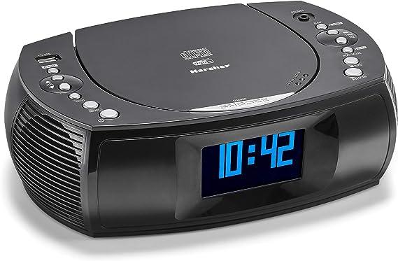 Karcher Ur 1309d Radiowecker Mit Mp3 Cd Player Und Dab Ukw Radio Je 20 Senderspeicher Wecker Mit Dual Alarm Usb Charger Batterie Backup Funktion Heimkino Tv Video