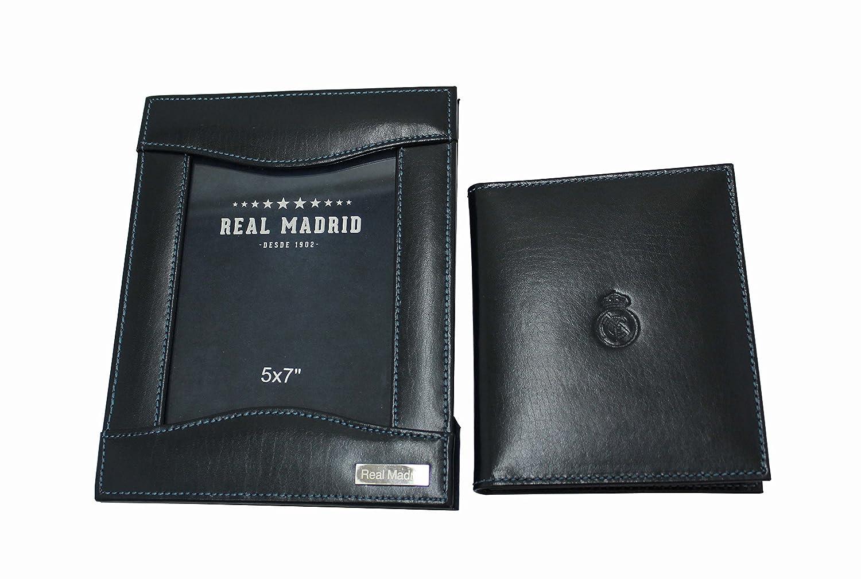 Porta Retratos -Real Madrid Premium de Piel- -Set de 2 Portafotos- Color Azul RMJ-80005: Amazon.es: Hogar
