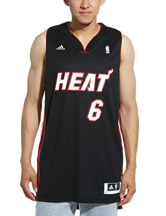 Adidas , Alero de los Miami Heat de la NBA Lebron James Jersey, Color Blanco, NBA, Lebron James, Hombre, Color Miami Heat, tamaño X-Large: Amazon.es: ...