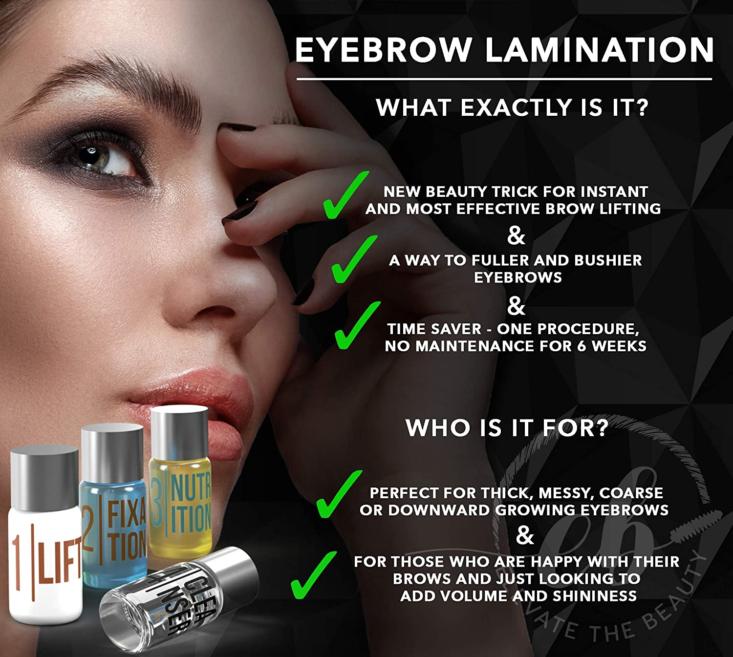 Elevate The Beauty Eyebrow And Lash Lamination Kit Diy Perm For Lashes And Brows Professional Lift For Trendy Fuller Brow Look And Curled Lashes Eyebrow Brush And Eyelash Micro