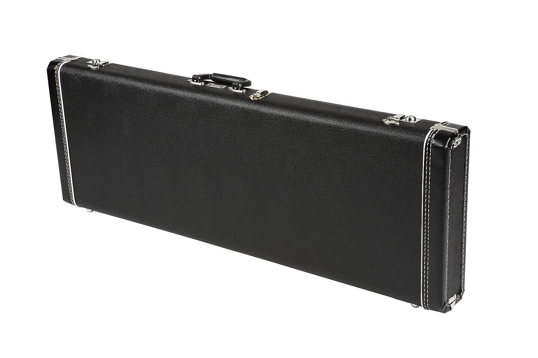Fender 099-6101-306 Standard Black Case for Strat/Tele Right and Left Hand Guitars 0996101306
