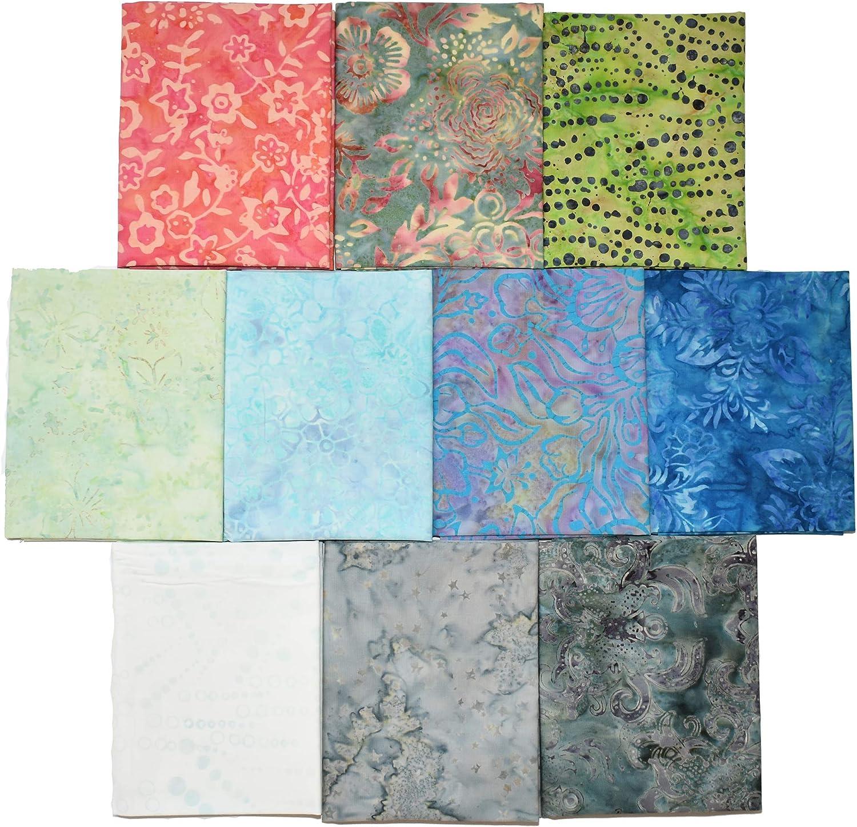 Premium Batik Fat Quarter Bundles 10 Fat Quarters JC5086