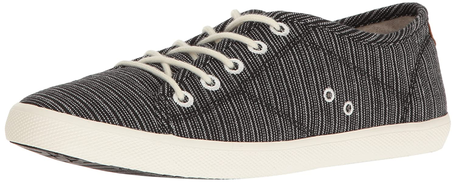 Roxy Women's Memphis Lace up Shoe Fashion Sneaker B01GOLKVB6 8.5 B(M) US|Black/White