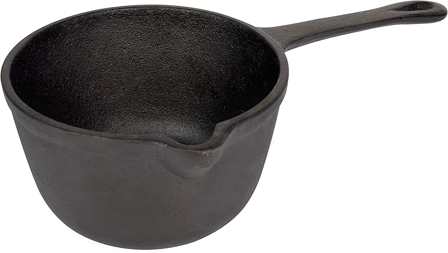 Jim Beam JB0204 Pre-Seasoned Heavy Duty Construction Cast Iron Basting Pot for Grilling and Oven, Large, Black