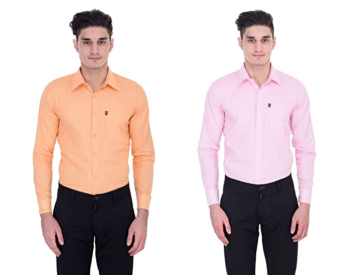 31fe87ad908 London Looks Multi Color Formal Shirts Combo of 2 (Xx-Large)  Amazon ...