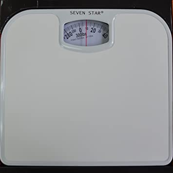 SevenStar Mechanical Bathroom Scale (White)