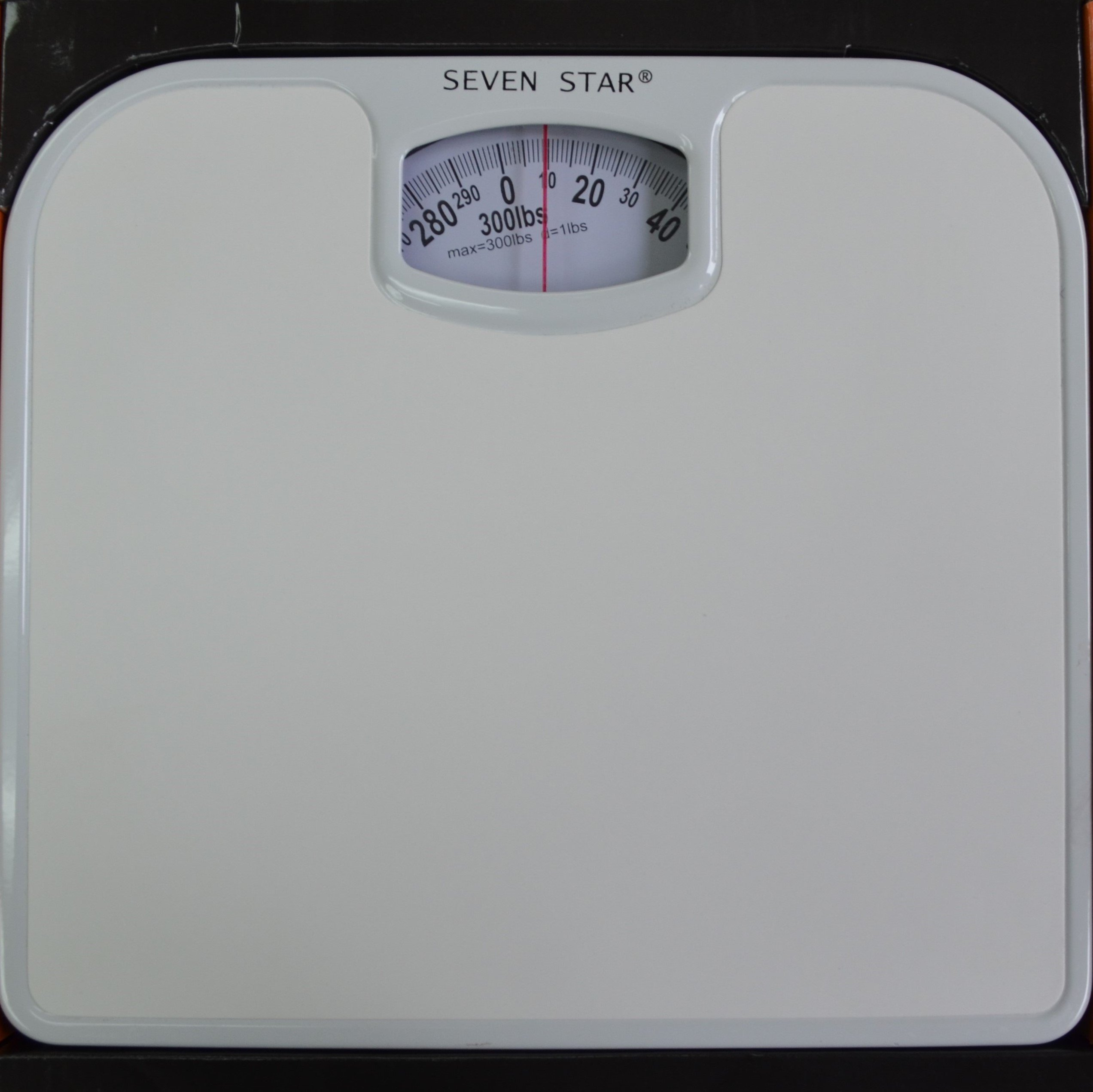 SevenStar Mechanical Bathroom Scale (White)