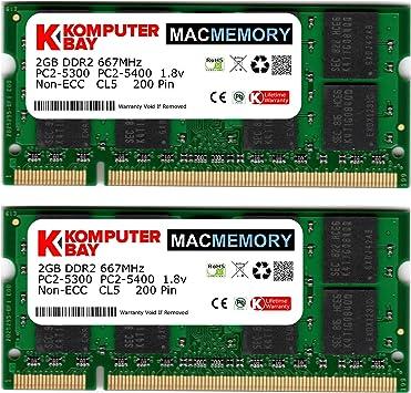 New Samsung 6GB Kit 4GB /& 2GB PC2-6400S DDR2-800Mhz Non-ECC SODIMM Laptop Memory