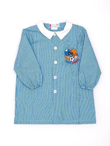 7cfa558f2b Grembiule asilo bambino Andy&Giò D91561 grembiule quadri blu SKATE:  Amazon.it: Abbigliamento