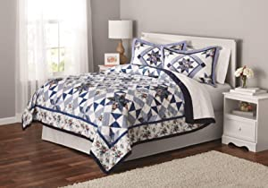 Mainstays Classic Claires Rose Patterned Bedding, King Sham