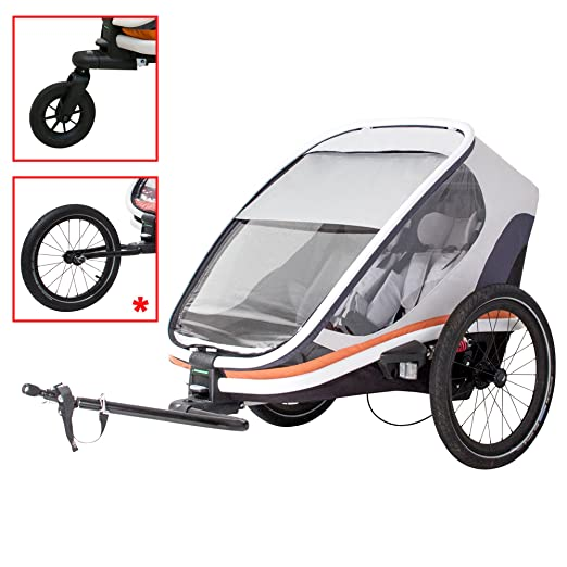 HAMAX Outback Multi-Sport Child Bike Trailer + Stroller +Jogger