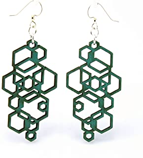 product image for Hexagon Cluster Earrings