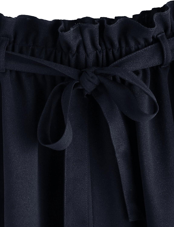 Romwe Womens Casual Elastic Waist Summer Shorts Jersey Walking Shorts