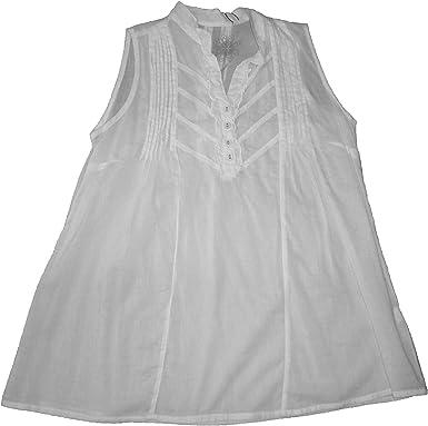 creem - Blusa y Camisa - sin Mangas - para Mujer Blanca XL: Amazon.es: Ropa y accesorios