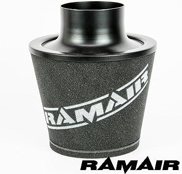 Ramair Filters Js-090-bk Grande universel filtre /à air avec tour de cou en alliage 90/mm Noir