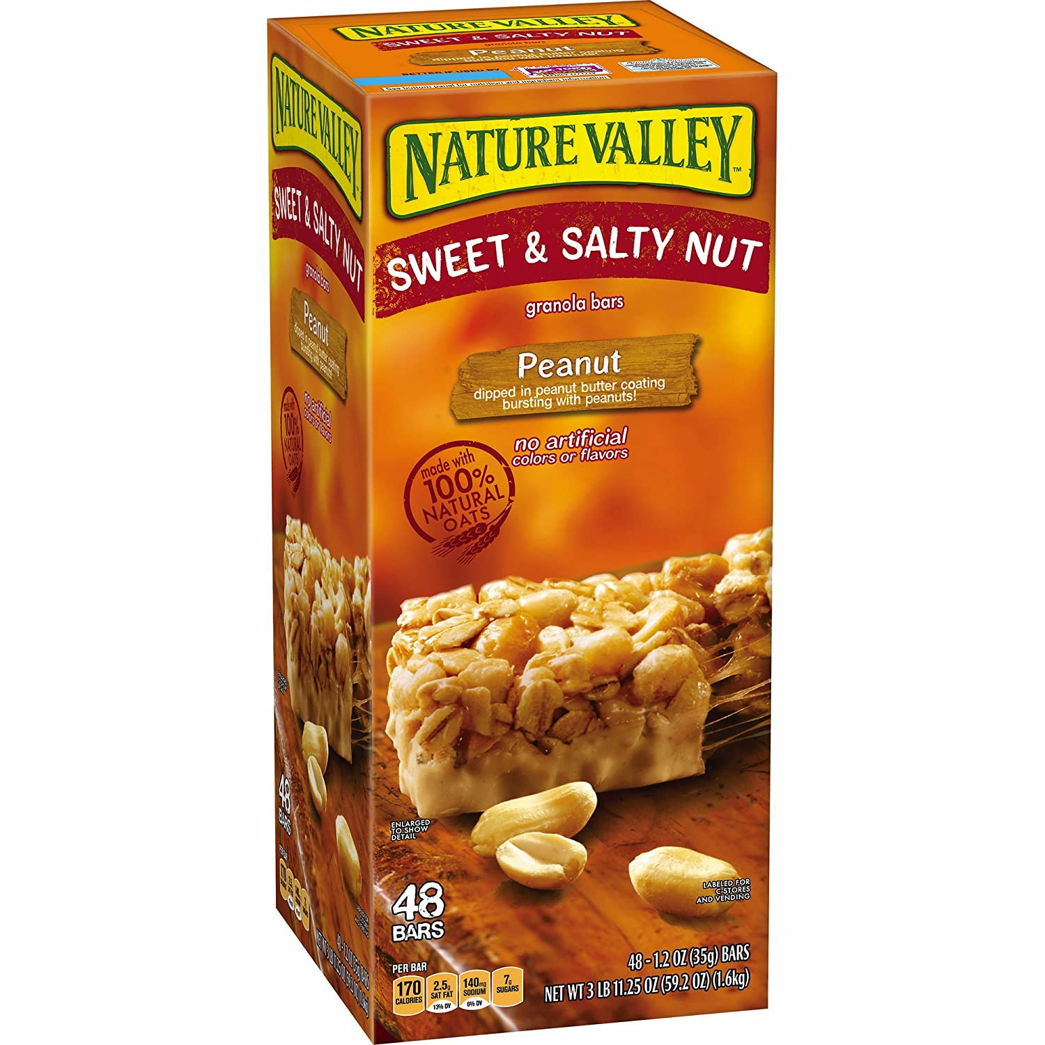 Nature Valley Sweet & Salty Peanut Granola Bars, 48 ct. (pack of 2)