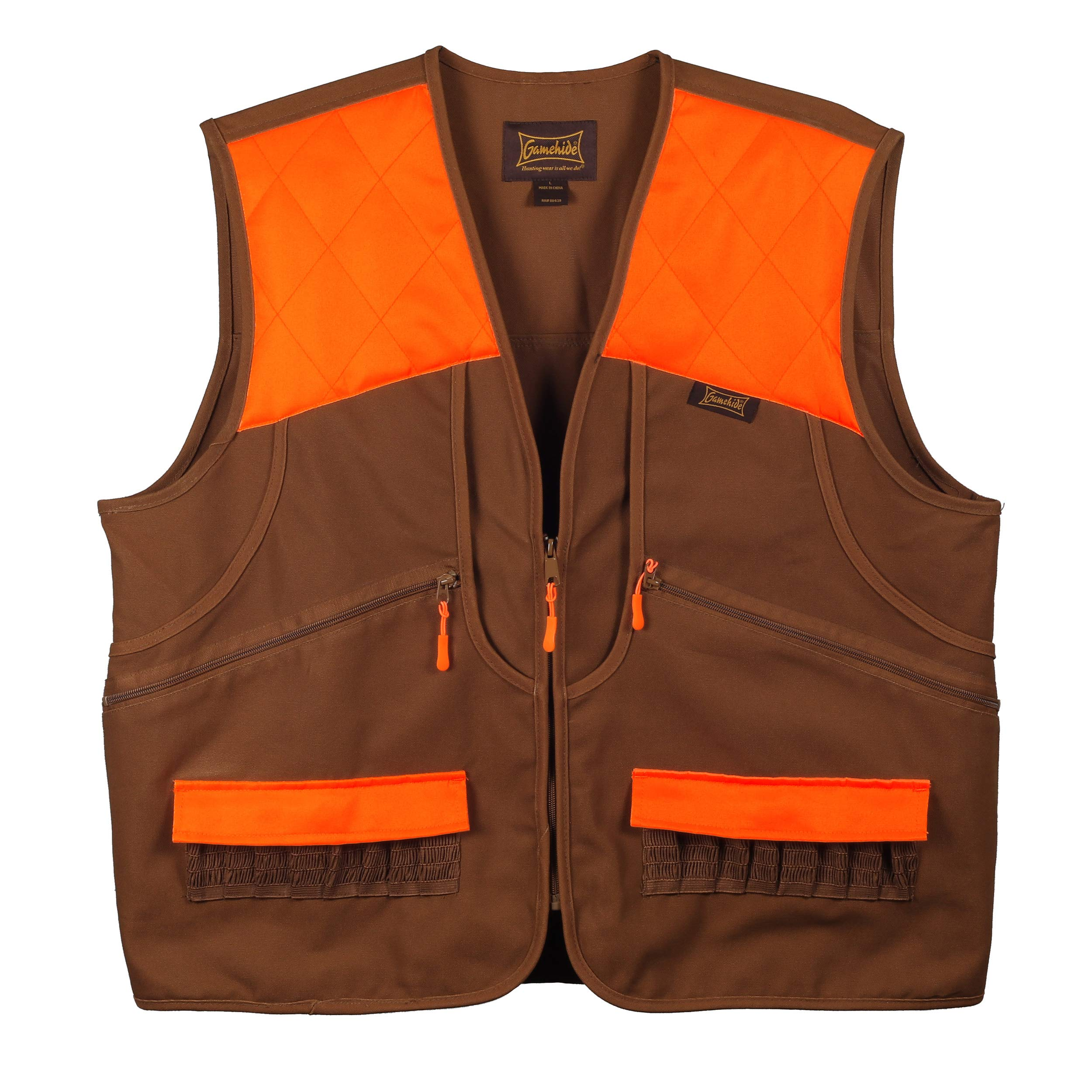 Gamehide Switchgrass Upland Field Bird Vest (Marsh Brown/Orange, 3X-Large) by Gamehide