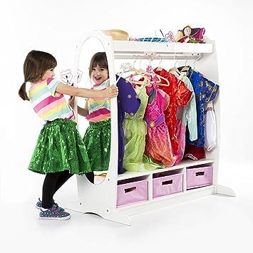 Guidecraft Dress Up Storage White Armoire, Dresser Kidsu0027 Furniture