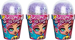 Awesome Bloss'EMS, 3-Pack of Magical Growing Flower-Themed Scented Collectible Dolls (Styles May Vary)