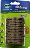 PetSafe Busy Buddy Refill Ring Dog Treats, Peanut Butter Flavored Natural Rawhide, Size C