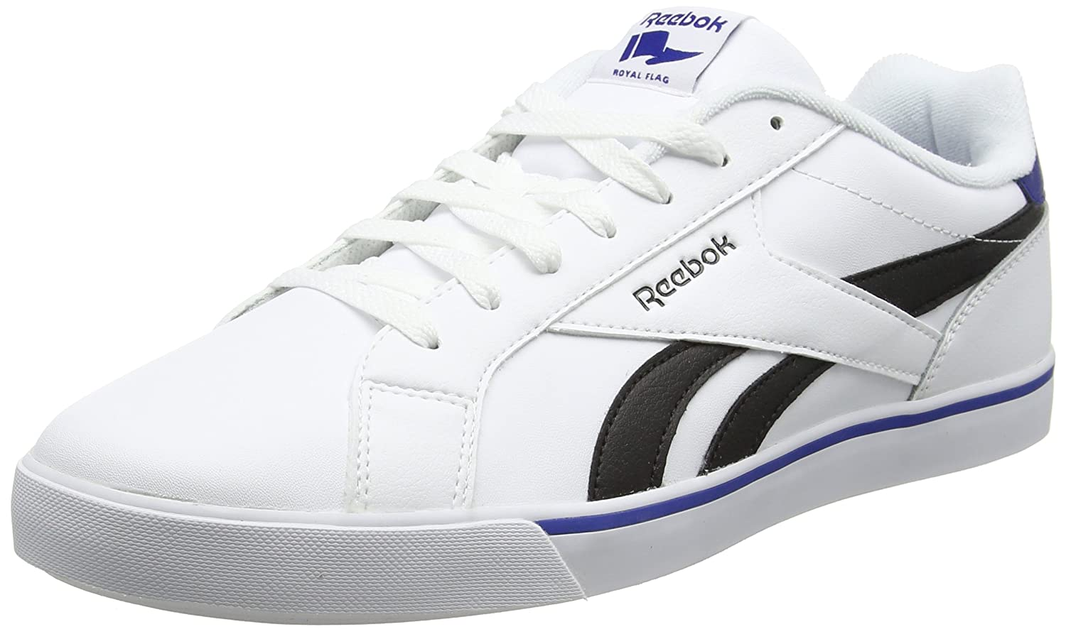 Reebok Herren Royal Complete 2ll Turnschuhe  44 EU|Wei? (White/Black/Collegiate Royal)